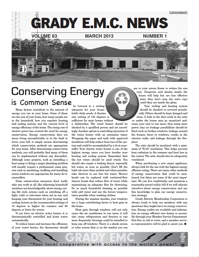 march2013 newsletter